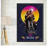 ZJYWYCN Poster Top Gun Maverick Klassischer Film Art Decor