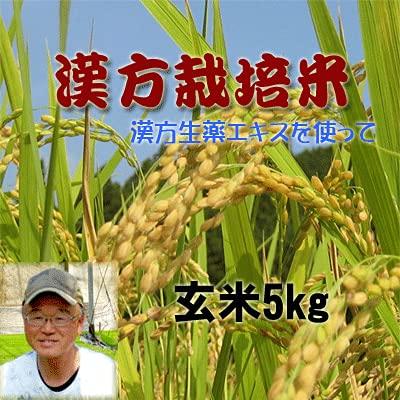 玄米 無農薬 あきさかり 四国徳島県産100% 漢方栽培米 完全無農薬米 玄米5kg (農家直送) (玄米5kg)