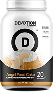 Devotion Nutrition Whey Protein Powder Blend, Angel Food Cake Flavor, 20g Protein, No Added Sugars, 2lb Tub, Packaging May...