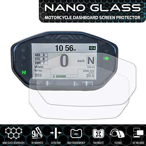 Speedo Angels SADU4NG2 Nano Glass Screen Protector for Ducati Monster 797/821/1200 (2014+), 2 x Ultra Clear