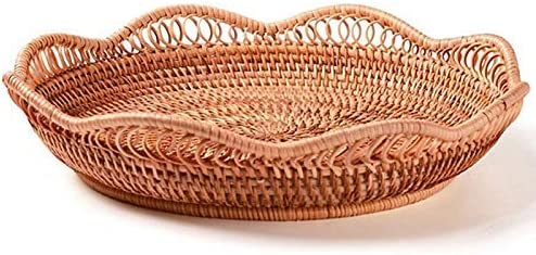 Aohi WXQ-XQ Fruit Bowl Handmade Year-end annual account Woven Basket Storage Limited price Wicker Rest