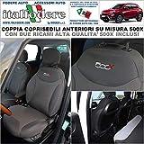 Coppia COPRISEDILI Fiat 500X su Misura Fodere Foderine...