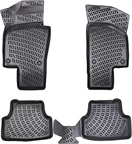 Elmasline Design 3D Gummimatten Set für VW Passat B6 Baujahr 2005-2010 | Fussmatten mit extra hohen 5cm Rand