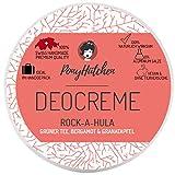 PonyHütchen Naturkosmetik Deo crema Rock-A-Hula - afrutado aroma - 100% natural efecto - 0% sales de aluminio - sin aluminio - 50 ml - natural desodorante - vegano - Bio Deocreme