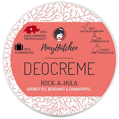 Pony sombrero desodorante sin sales de aluminio + 50 ml de desodorante cosmético natural + bio + vegano + hecho a mano + ideal en equipaje de mano + 100% natural eficaz – 0% sales de aluminio
