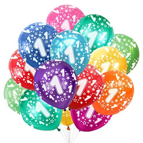 Bluelves Numeri 1 Palloncini Compleanno Decorazioni, Primo Compleanno Bambino Palloncini Pompleanno, Addobbi Numero 1 Anno,Anniversario Decorazioni Festa Compleanno Ragazza Ragazzo