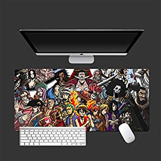 Mopoq One Piece Mouse Pad Oversized Anime Tide Brand Essolon Luffy Computer Keyboard Long Desk Mat (Color : 28)