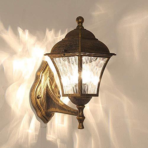 AXWT Tradizionale Ferro Esterna Lampada da Parete in Metallo battuto Europea retrò Lampada terrazza Decorazione della Parete Lampada da Parete della Lanterna,Copper