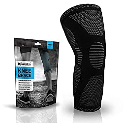 top 10 knee braces POWERLIX Compression Cuff – Best Knee Support for Men and Women – Running Knee Support,…