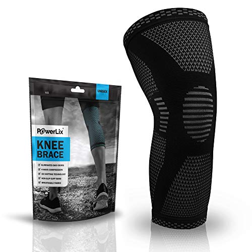 POWERLIX Knee Compression Sleeve - Best Knee Brace for Men & Women – Knee Support for Running,...