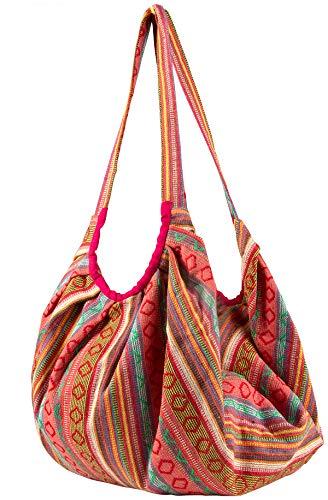 Tribe Azure Fair Trade Damen-Umhängetaschen aus Baumwolle Einheitsgröße Rosa