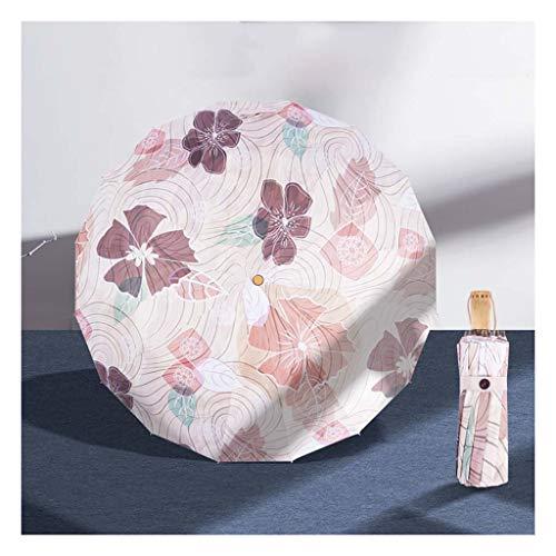BCL Paraguas Mini Paraguas De Viaje Paraguas Ligeras Pequeñas Compactas para Mujer para Sol Lluvia 3color(Color:C)