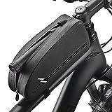 自転車用フレームバッグ 大容量トップチューブバッグ 簡単装着 6.9インチスマホ対応 小物収納 スマホケース 収納バッグ サイクリング ロードバイク/マウンテンバイク/クロスバイク適用