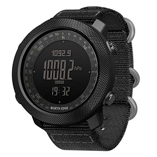 Reloj Deportivo para Hombre Altimeter Barometer Compass Worldtime Watches Digital Running