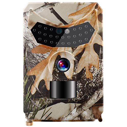Xueliee [2019 Upgraded Trail Cam Game Camera for Hunting Wildlife Tracking,12MP Hunting Trail Camera HD 1080P Infrared Night Vision HD Video Cam
