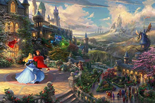 Ceaco Thomas Kinkade The Disney Collection Sleeping Beauty Enchanting Jigsaw Puzzle, 750 Pieces