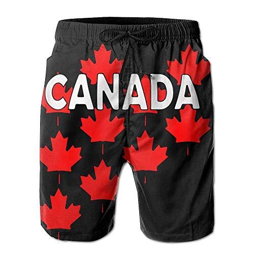 GOSMAO Canada Maple Leaf Men 's Print Boardshorts Ropa de Playa de Secado rápido con Bolsillos