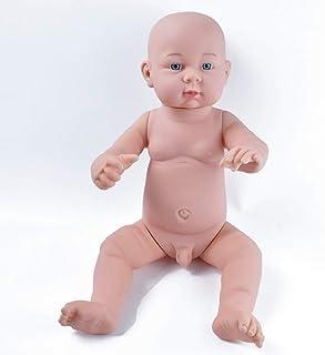 HiPlay Realistic Baby Doll Lifelike Silicone Vinyl Naked Boys/Girls Newborn Baby Dolls for Kids Toys/Nursing Practice/Teac...