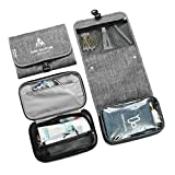 Travel Toiletry Bag For Men/Women With Hanging Hook,Water-resistant Detachable Makeup Organizer Cosmetic Bag Travel Dopp Kit Container For Accessories,Toiletries