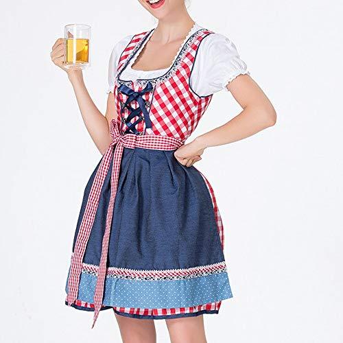 H.eternal - Disfraz de Camarera para Mujer, diseo de Oso de Oktoberfest alemn Rojo Rosso 52
