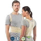 Correttore postura schiena per uomini e donne di aHeal | Supporto schiena | Taglia 3 Pelle