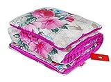 BABYLUX Babydecke Krabbeldecke MINKY Kuscheldecke Decke 75 x 100 cm mit KISSEN 30x35cm (15K. Rosa + Blumen)