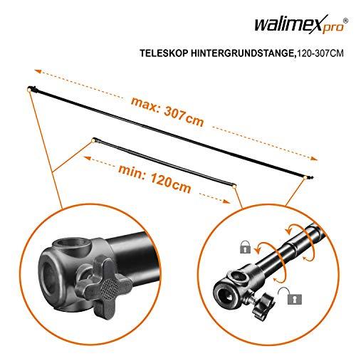 Walimex pro Teleskop Hintergrundstange (120-307 cm)