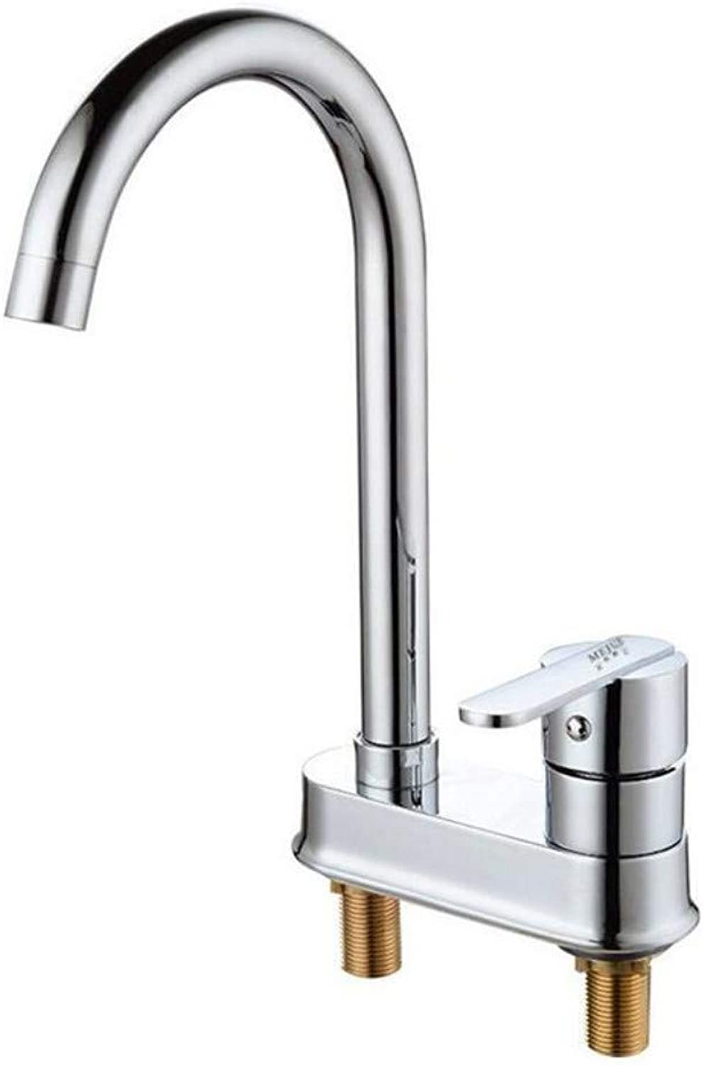 Modern Waterfall Copper Hot and Cold Kitchen Sink Taps Kitchen Faucet Single Handle Double Hole