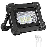 Projecteur LED Rechargeable Solaire 60W Elekin Projectuer Chantier 3000LM Lampe de Travail Réglable...
