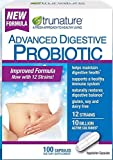 100 Capsules (Pack of 3) Trunature® Advanced Digestive Probiotic with 12 Strains Delivers 10 Billion Live Active Cultures