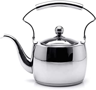 Mirror 1.5 Liter Imported 304 Stainless Steel Teapot Composite Bottom Induction Cooker Kung Fu Tea Hand Whistling Flute Kettle