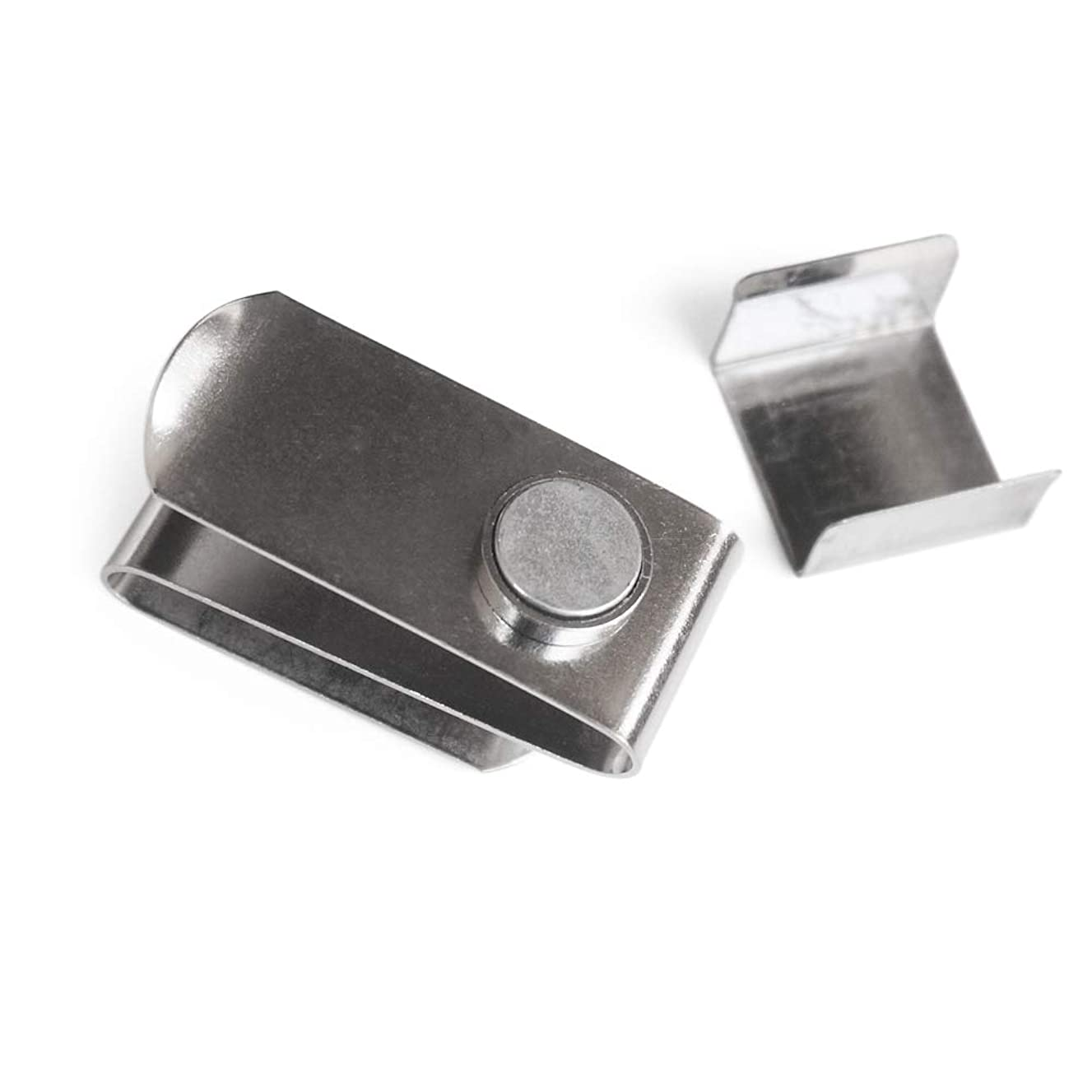 Walmeck Chalk Box Stainless Steel Cue Chalk Clip Snooker Billiards Chalk Holder Pool with Clip