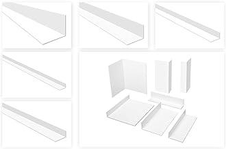 HEXIM Hoekprofielen ongelijkbenig wit - PVC kunststof hoek, selectie afmetingen en dikte - (HJ 303, 25x45 mm) kunststof ho...