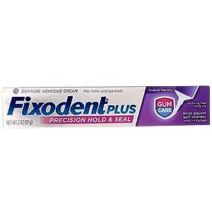 Fixodent Plus Denture Adhesive Cream Gum Care - 2 oz, Pack of 6