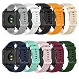 ZSZCXD Compatible for Garmin Venu/Venu Sq, 20mm Width Silicone Replacement WatchBand Strap Band Wristband for Garmin Venu/Venu Sq/Vivoactive 3/Forerunner245/Forerunner645