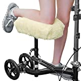 RMS Knee Walker Pad Cover - Plush Synthetic Faux Sheepskin Scooter Seat Cushion - Padded Foam for Comfort During Injury - Washable and Reusable - Fits Most Knee Scooters