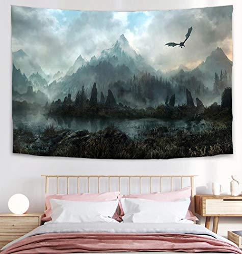 Long Tapestry , Tapestry Wall Hanging Sea Wave Koi Art Décor for Dorm Bedroom Living Room Style 1 Size 4