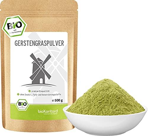 BIO Gerstengraspulver 500g   Gerstengras gemahlen   100% naturrein   Bioqualität   bioKontor