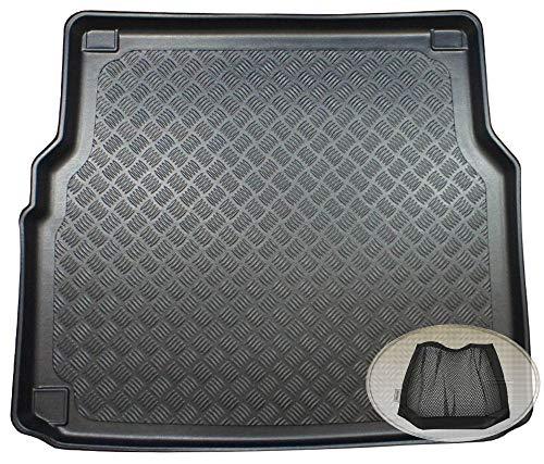 ZentimeX Z3323915 Geriffelte Kofferraumwanne fahrzeugspezifisch + Klett-Organizer (Laderaumwanne, Kofferraummatte)
