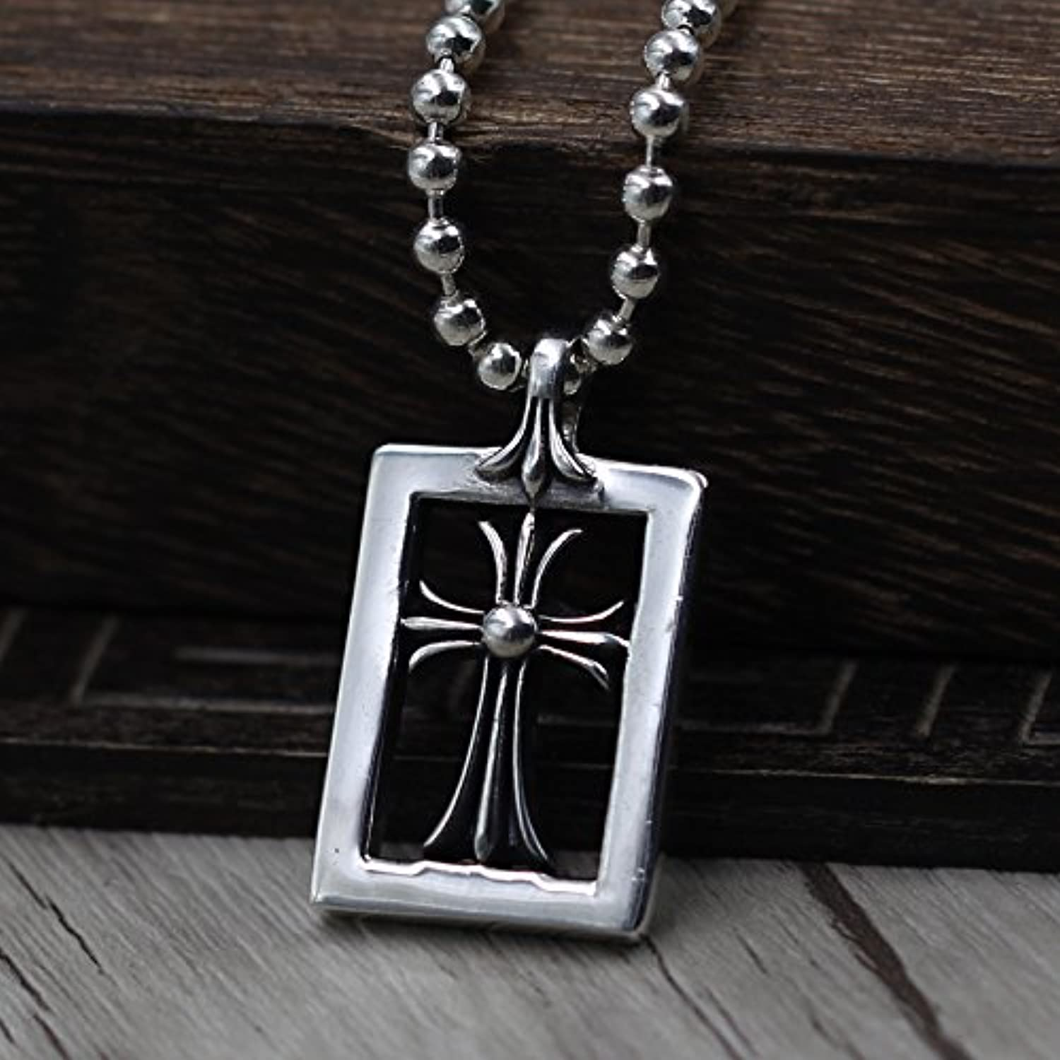 925 Sterling Silver Hollow Crusaders Create Personalized Flower Necklace Pendant Men and Women Thai Silver Necklace Pendant