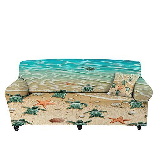 Pizding Hawailia - Funda elástica para sofá de 75 a 91 pulgadas, resistente a las manchas, protector de muebles para perros, mascotas y niños en todo tipo de clima