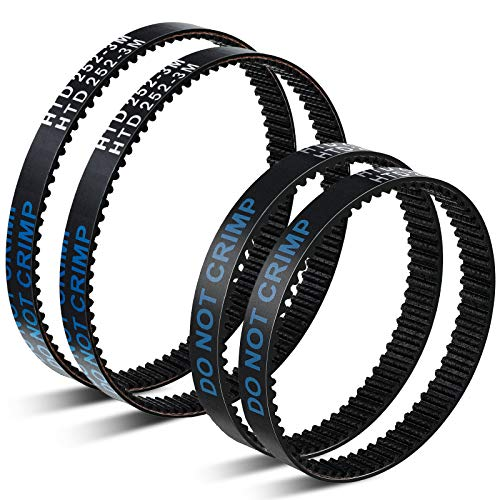 Honoson 4 Pieces Vacuum Cleaner Replacement Belts Compatible with Bissell ProHeat 2X Revolution Pet Pro Cleaner, Compatible with 1964, 1986, 2007, 2007P, Part Number 1611129 and 1611130