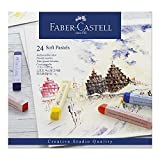 Faber-Castell 128324 Goldfaber Studio Soft Pastel Chalks Pack of 24 Assorted Colours