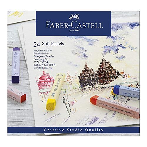 Faber-Castell F128324 128324 - Softpastellkreide studio quality, 24er Etui