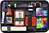 Cocoon GRID-IT - 12' Taschen Organizer mit elastischen Bändern / Elektronik Zubehör / Organizer für Aktentasche / Organisationssystem mit Reißverschluss & Schlaufe – Schwarz-Grau / 30,5 x 1,9 x 20,3cm