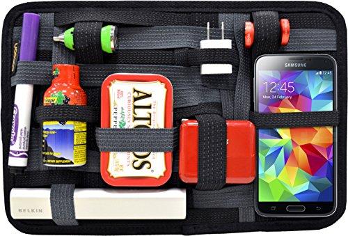 """Cocoon GRID-IT - 12\"""" Taschen Organizer mit elastischen Bändern / Elektronik Zubehör / Organizer für Aktentasche / Organisationssystem mit Reißverschluss & Schlaufe – Schwarz-Grau / 30,5 x 1,9 x 20,3cm"""