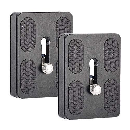BDDFOTO PU50 Schnellwechselplatte 2 Pack Blitzschuh mit 1/4 Gewinde für Benro B0 B1 B2 J1 N1 Stativ Kugelkopf Arca Swiss und Manfrotto 50mm