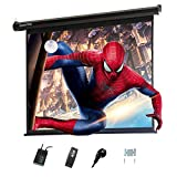 Display4top Electric 60' Projektion Leinwand Beamer Leinwand 4:3 Portable Foldable for Home Theater Cinema Indoor Outdoor Projector Movie Screen,Screen:120cm(W) x 90cm(H)