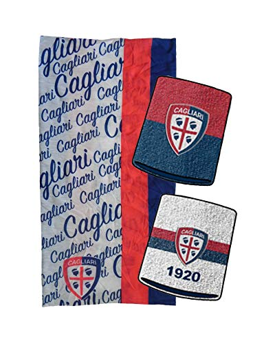 Marcello55 Kit Cagliari Ufficiale: Due Polsini + Fascia Multiuso