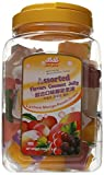 Jin Jin Assorted Fruit Coconut Candy Lychee Mango Peach and Grape Jelly Cups 52.9 Ounce Container